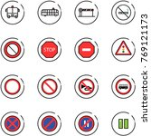 line vector icon set   airport... | Shutterstock .eps vector #769121173