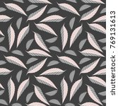 seamless pattern with elegant... | Shutterstock .eps vector #769131613