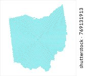 abstract graphic ohio map of...   Shutterstock .eps vector #769131913