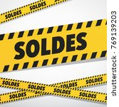 black and yellow sales ribbons. ...   Shutterstock .eps vector #769139203