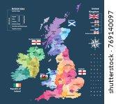 vector map of british isles...