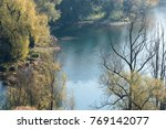 Small photo of view of Adda River from Trezzo d'Adda