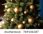 fluffy branches of christmas... | Shutterstock . vector #769146187
