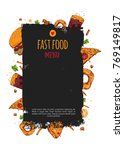 sketch hand drawn fast food...   Shutterstock .eps vector #769149817