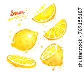 watercolor illustrations set of ...   Shutterstock . vector #769155187