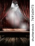 vintage theatre with fog | Shutterstock . vector #769160473
