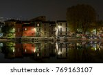 Night View Of The River Bank I...