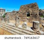 the temple of apollo ruins ... | Shutterstock . vector #769163617