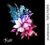 vintage bouquet of magnolia... | Shutterstock .eps vector #769174393