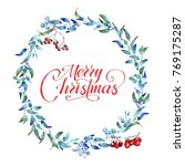 merry christmas greeting card...   Shutterstock . vector #769175287