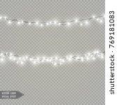 christmas lights isolated on... | Shutterstock .eps vector #769181083