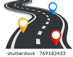 a winding road leaving in... | Shutterstock .eps vector #769182433