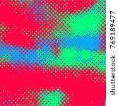 color halftone dots pattern ....   Shutterstock .eps vector #769189477