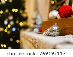 christmas decorations on the... | Shutterstock . vector #769195117