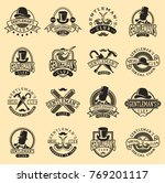 gentlemans vintage badges... | Shutterstock .eps vector #769201117