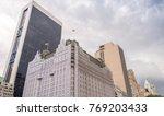 street skyline of lower...   Shutterstock . vector #769203433