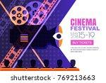 vector cinema festival poster ... | Shutterstock .eps vector #769213663