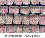 pink and white roses packed for ... | Shutterstock . vector #769214593