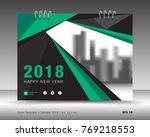 cover calendar 2018 template.... | Shutterstock .eps vector #769218553