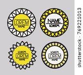 set of logo abstract circles... | Shutterstock .eps vector #769221013