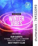 2018 new year winter dance... | Shutterstock .eps vector #769222093