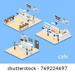 isometric 3d vector...   Shutterstock .eps vector #769224697