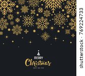 vector snowflake gold for merry ... | Shutterstock .eps vector #769224733