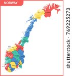 the detailed map of the norway... | Shutterstock .eps vector #769225273