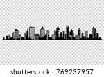 vector city silhouette.... | Shutterstock .eps vector #769237957