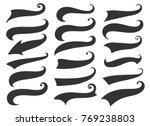 swash and swoosh. curly swish... | Shutterstock .eps vector #769238803