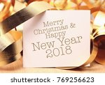 merry christmas and happy new... | Shutterstock . vector #769256623