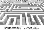 endless labyrinth. creative... | Shutterstock . vector #769258813