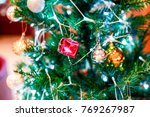 christmas tree decorations... | Shutterstock . vector #769267987