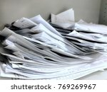 a bunch of documents  after... | Shutterstock . vector #769269967