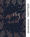 vector modern merry christmas... | Shutterstock .eps vector #769277623