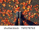 hipster style image of legs in... | Shutterstock . vector #769278763