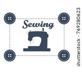 sewing machine logo | Shutterstock .eps vector #769280623