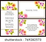 romantic invitation. wedding ... | Shutterstock .eps vector #769282573