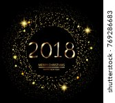 happy new year background with... | Shutterstock .eps vector #769286683