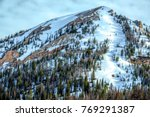 Snowy Mountainside With Pine...