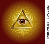 all seeing eye | Shutterstock .eps vector #76929382