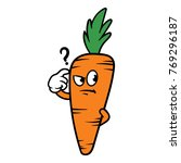 cartoon confused carrot... | Shutterstock .eps vector #769296187