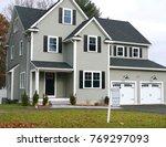 new built single family house... | Shutterstock . vector #769297093