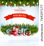 christmas holiday background... | Shutterstock .eps vector #769297177