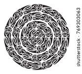 polynesian tattoo style.... | Shutterstock .eps vector #769303063