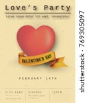 happy valentines day party... | Shutterstock .eps vector #769305097