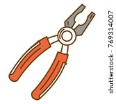 pliers tool isolated icon | Shutterstock .eps vector #769314007