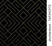 golden abstract geometric... | Shutterstock .eps vector #769341973
