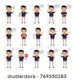 set of stylish businessman... | Shutterstock .eps vector #769350283