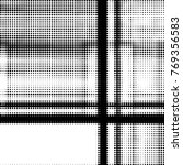 grunge halftone black and white ... | Shutterstock . vector #769356583